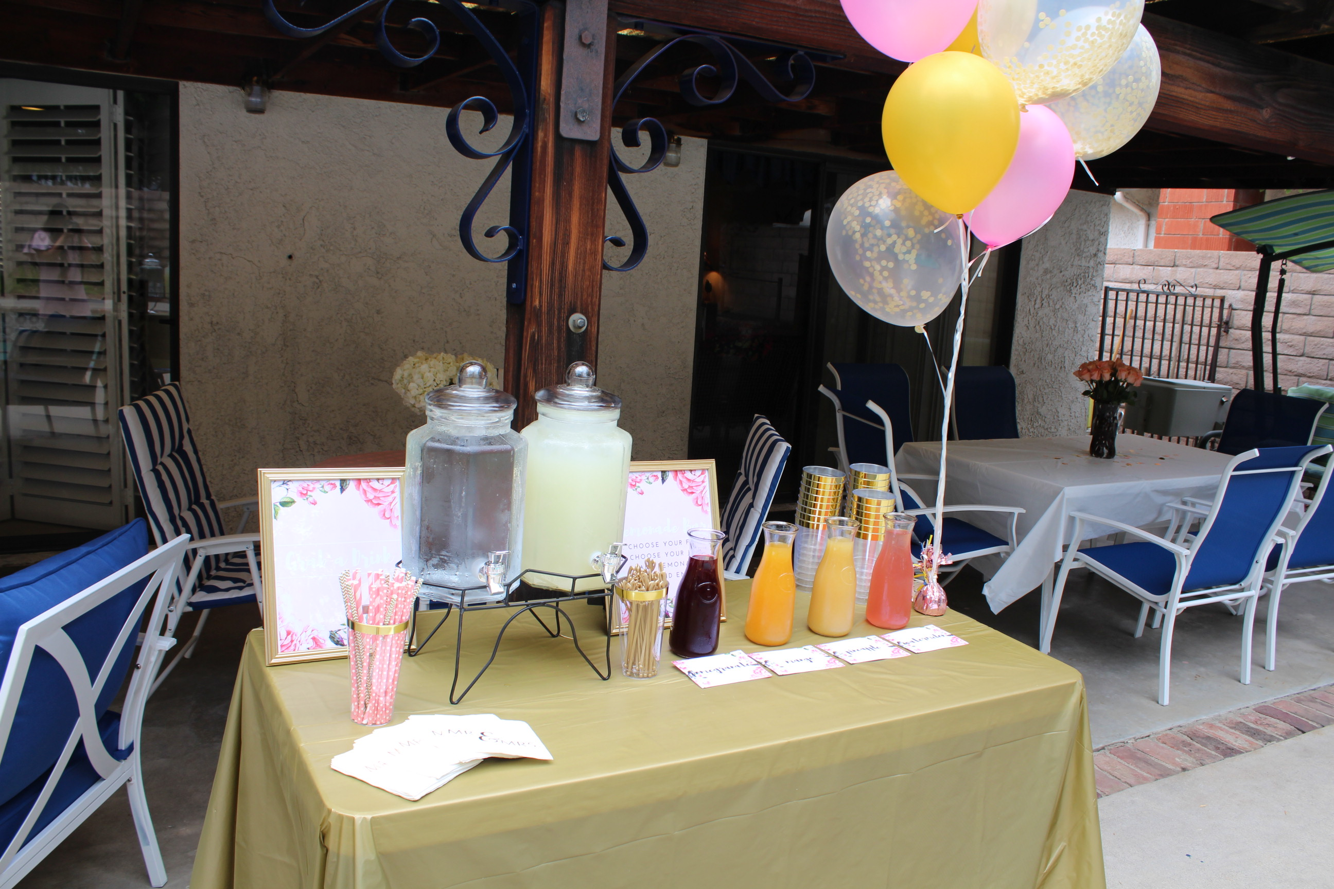 Bridal Shower Lemonade Bar