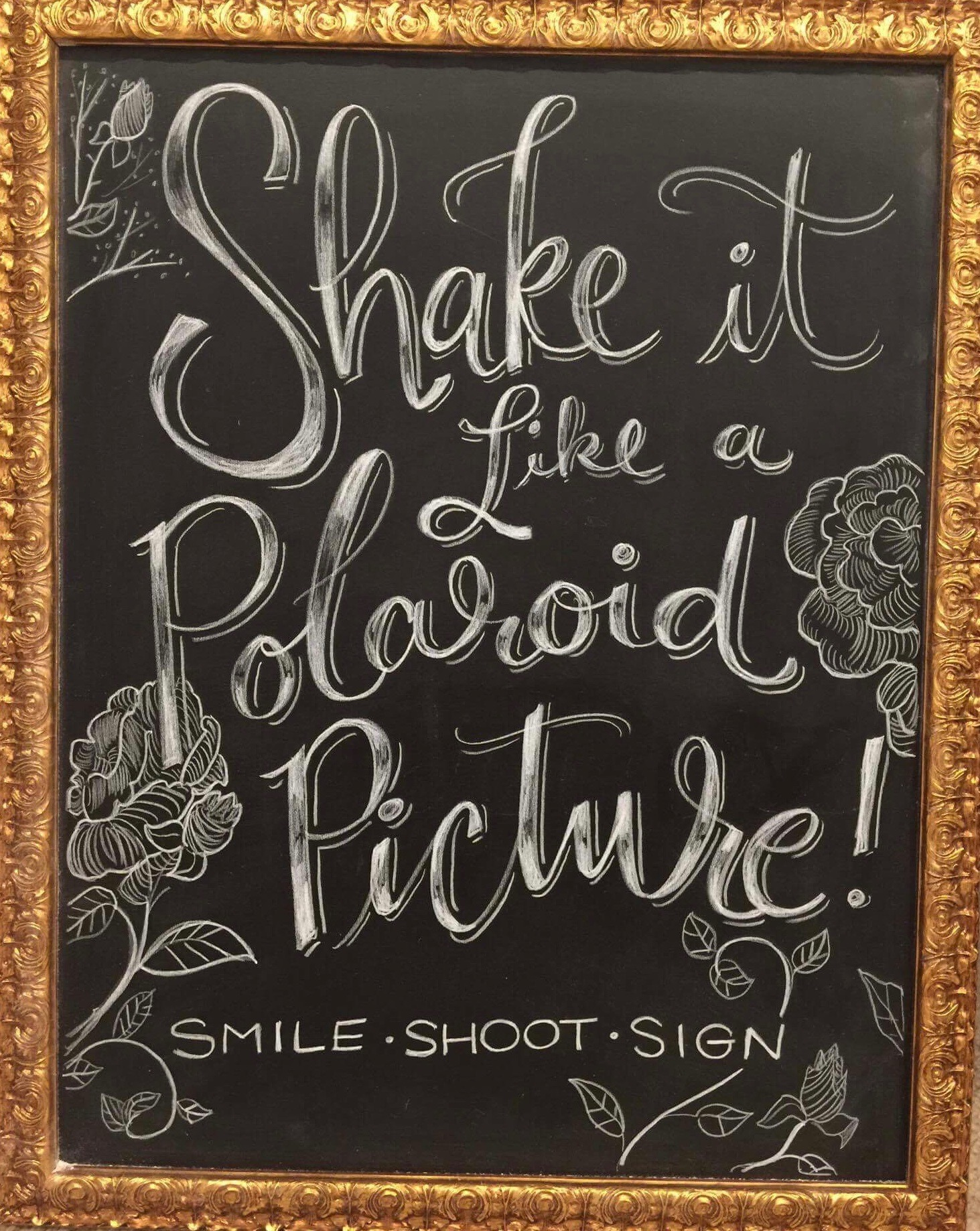 Wedding Chalk Art Signs - Shake it like a polaroid picture