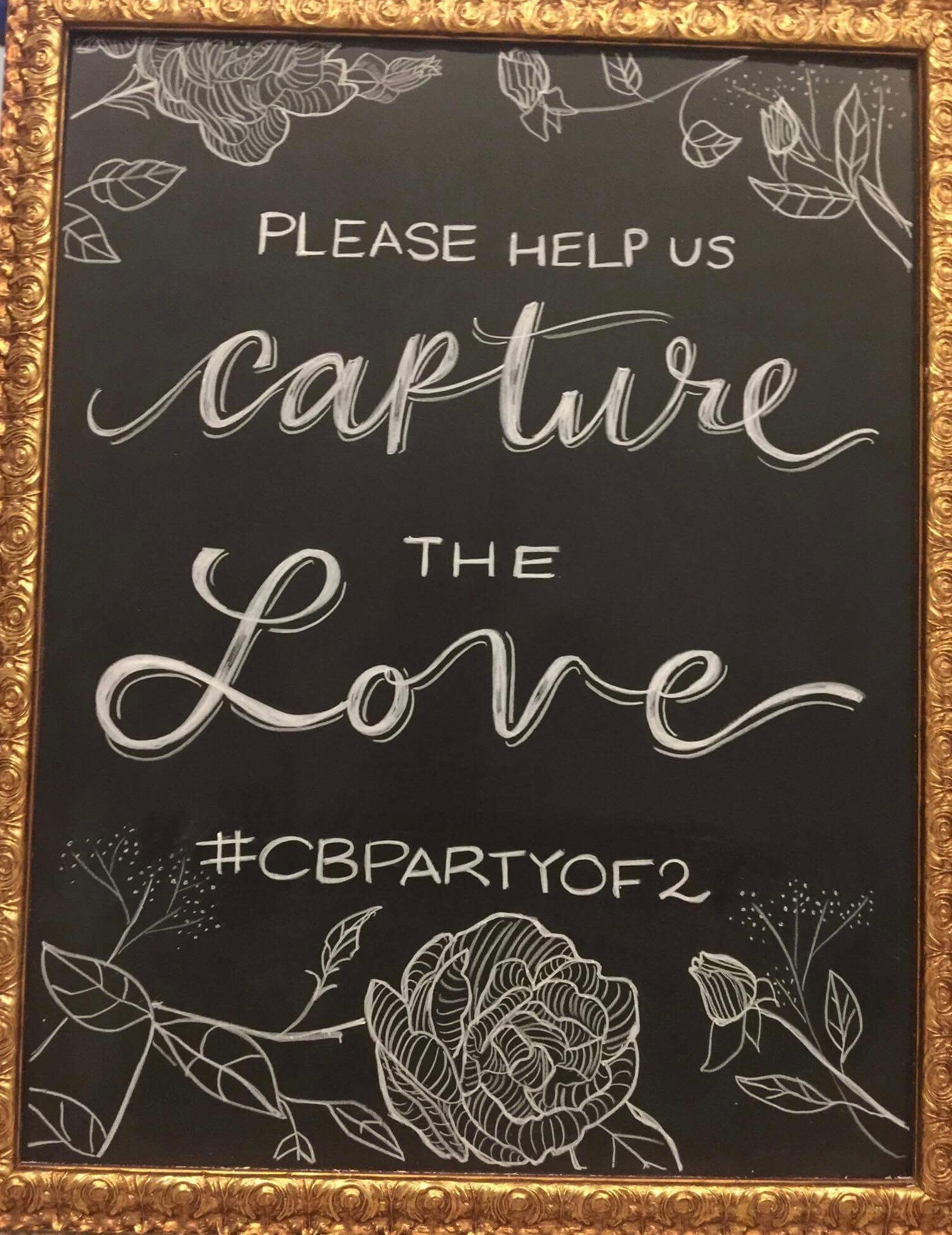 Wedding Chalk Art Signs - please help us capture the love