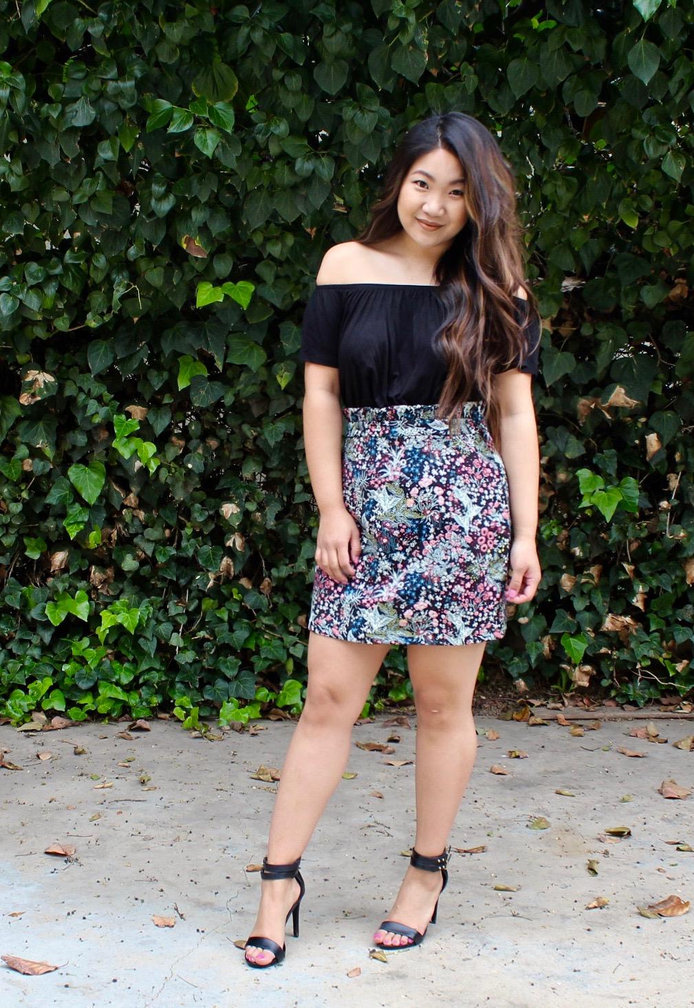Topshop Jacquard Miniskirt